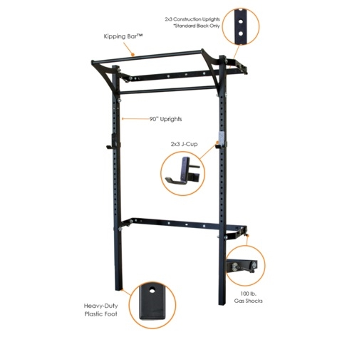 Prx 2x3 Profile Rack With Kipping Pull Up Bar