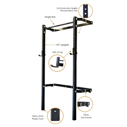 PRX 2x3 Profile Rack with Single Pull-Up Bar