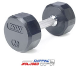 Troy Rubber Encased 12-Sided Dumbbells