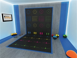Pavigym Vertical Tile with Functional Zone Design