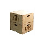 Rage Wood Stackable Plyo Box