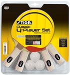 Stiga Classic 4-Player Racket Set